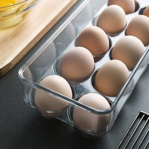 Acrylic Fridge Egg Storage Holder Organizer 14Hole
